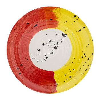 Fabbro Swish Dinner Plate - Red and Yellow