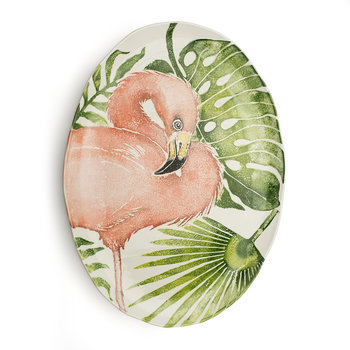 Into The Jungle Giant Oval Flamingo Platter