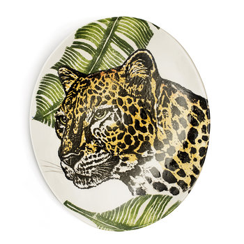 Into The Jungle Oval Cheetah Platter