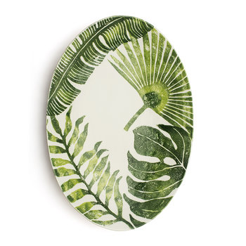 Into The Jungle Oval Mixed Leaves Bowl - Large