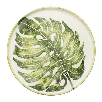 Into The Jungle Round Monstera Leaf Tray