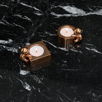 Omini Round Tealight Holder - Rose Gold