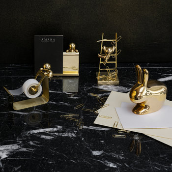 Rabbit Paperweight - Brass