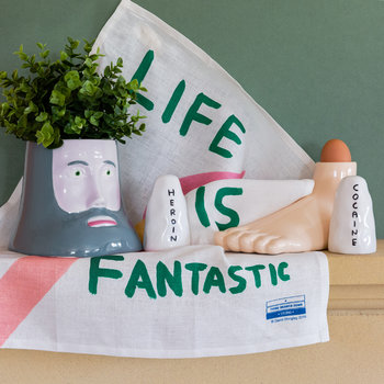 David Shrigley Tea Towel - Life Is Fantastic