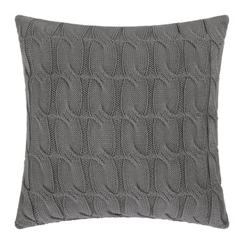 Cable Knit Pillow - 45x45cm - Dark Gray