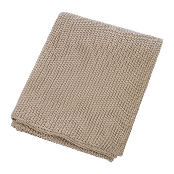 Knitted Throw - Tan