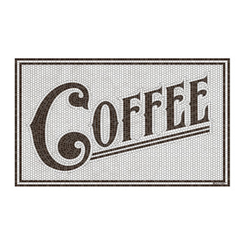 Coffee Vinyl Door Mat - Brown
