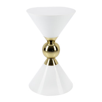 Hourglass Stool - White