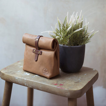 Leather Roll-Down Ditty Bag