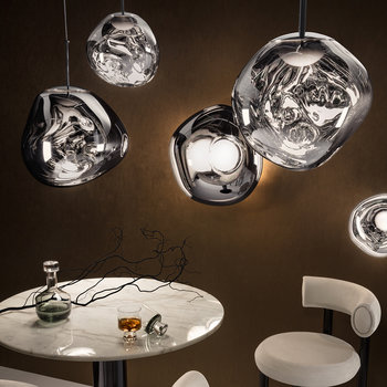 Melt Mini LED Pendant Light - Chrome