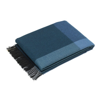 Color Block Blanket - Black/Blue