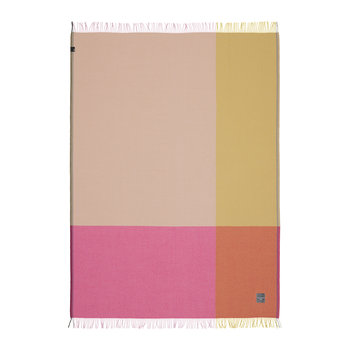 Color Block Blanket - Pink/Beige