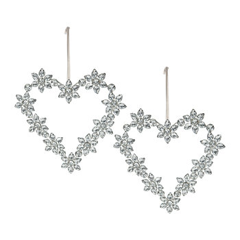 Beaded Heart Decoration - Set of 2