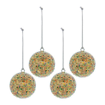 Diamond Bauble - Set of 4 - Multicolour