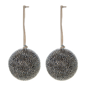 Jewelled Bauble - Set of 2 - Gunmetal