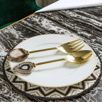Dark Agate Salad Servers - Set of 2
