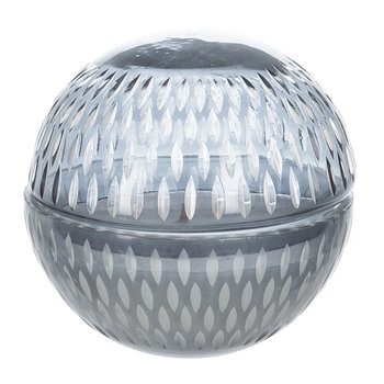 Cut Glass Ball Scented Candle - Grey