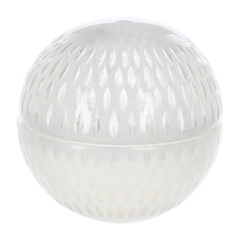 Cut Glass Ball Scented Candle - White