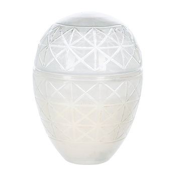 Cut Glass Large Scented Candle - White