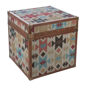 Aztec Leather Chest - Small
