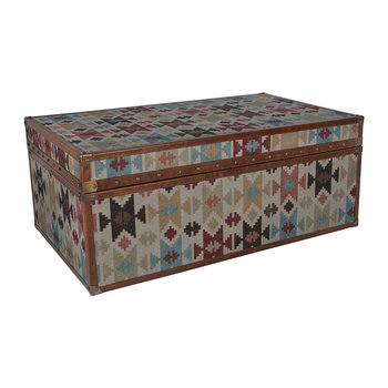 Aztec Leather Chest - Large