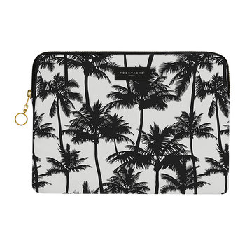 Palm Trees iPad Case - Black/White