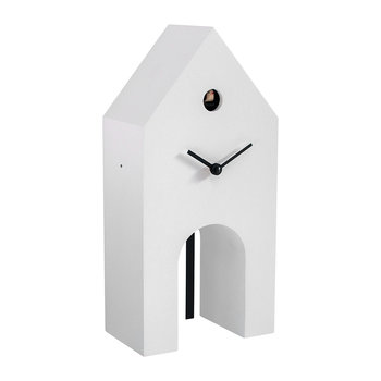 Campanile Cuckoo Clock - White & Black