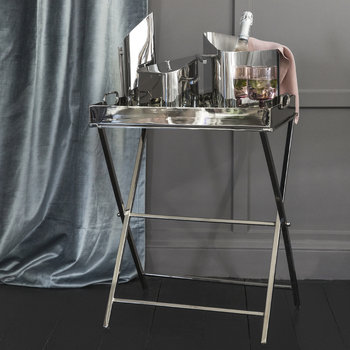 Rectangular Mirror Tray Table