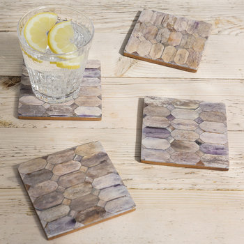 Brown Weave Coasters - Set of 4