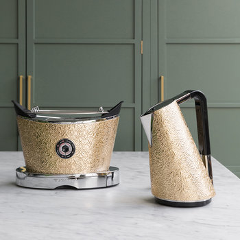 Devore Pattern Volo Toaster - Gold