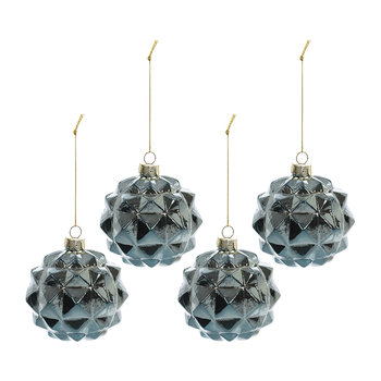Sputnik Bauble - Set of 4 - Blue
