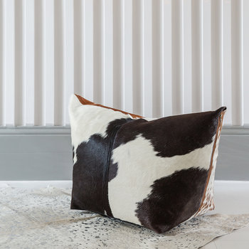 Mixed Cowhide Pouf - Multi