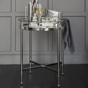 Table d'Appoint Miroir Rond