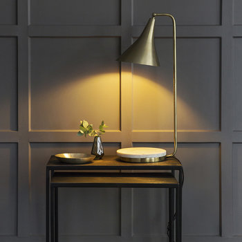 Cone Table Lamp - Gold & Marble