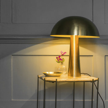 Gold Mushroom Table Lamp - Tall