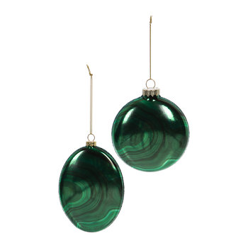 Malachite Tree Decoration - Set of 2 - Green