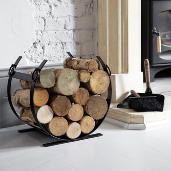 Fireside Dustpan & Brush - Black/Wood