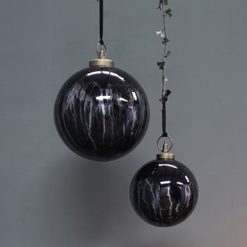 Danoa Giant Round Bauble - Aged Smoke & Black