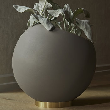 Globe Flower Pot - Taupe