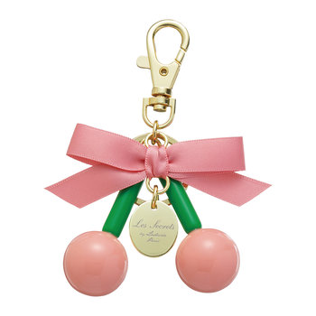 Bow Macarons Keyring - Pink Cherry