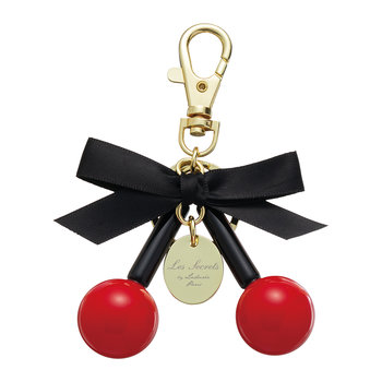 Bow Macarons Keyring - Red Cherry