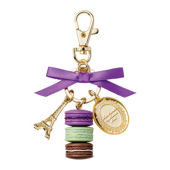 Macarons Keyring - Small - Purple