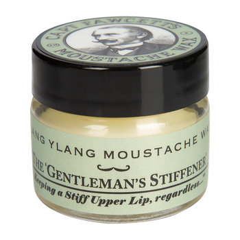 Ylang Ylang Moustache Wax & Folding Pocket Mustache Comb