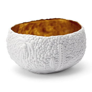 Mojave Dessert Bowl - Small - White & Gold