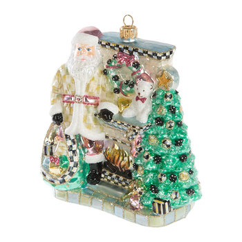 Fireside Santa Tree Decoration