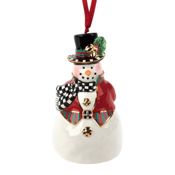 Top Hat Snowman Bell Tree Decoration