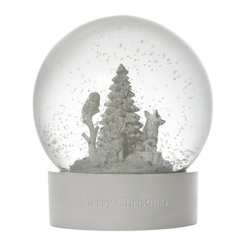 Owl and Fox Snowglobe