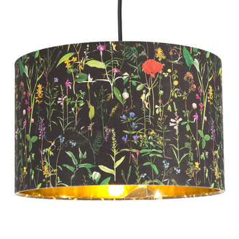 Aquafleur Anthracite Drum Ceiling Light