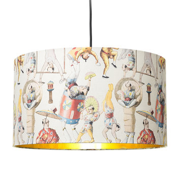 Asian Circus Drum Ceiling Light