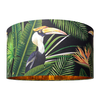 Birds of Paradise Drum Lamp Shade